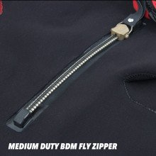 The suit is fitted with an additional medium duty BDM metal fly zipper