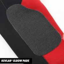 Drysuit has Kevlar® elbow pads fitted for extra protection in high wear areas