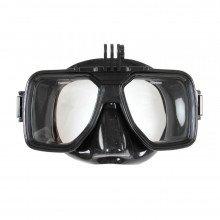 Low profile underwater scuba mask
