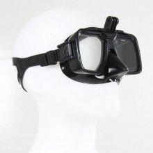 All black subtle designed scuba masks