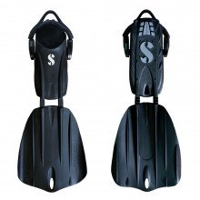 SCUBAPRO Seawing Nova Fins - Black Seawing Nova Fins front & back view