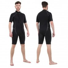 Semi-Tech 3-piece Wetsuit System - Shortie only, front & back view