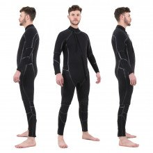 Semi-Tech 3-piece Wetsuit System - Long John with Shortie on top, front & side views