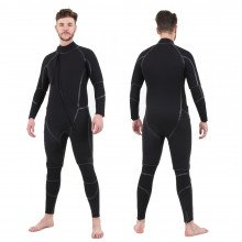 Semi-Tech 3-piece Wetsuit System - Long John with Shortie on top, front & back view