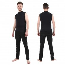 Semi-Tech 3-piece Wetsuit System - Vest only, front & back view