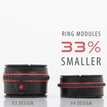 The V4 Dry Glove Ring System is an incredible 33% smaller than earlier versions!