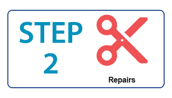 Step two icon - repairs