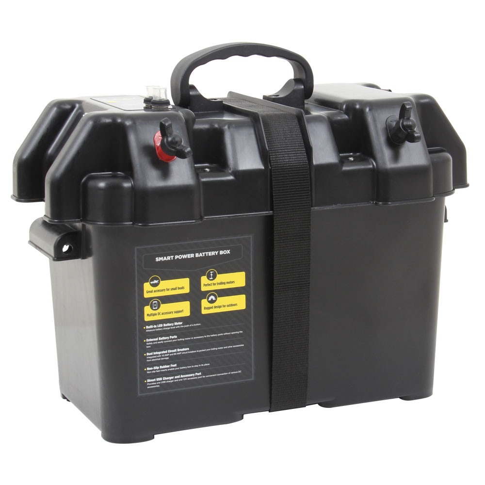 Smart Power Battery Box, shown closed  with lid buckled shut