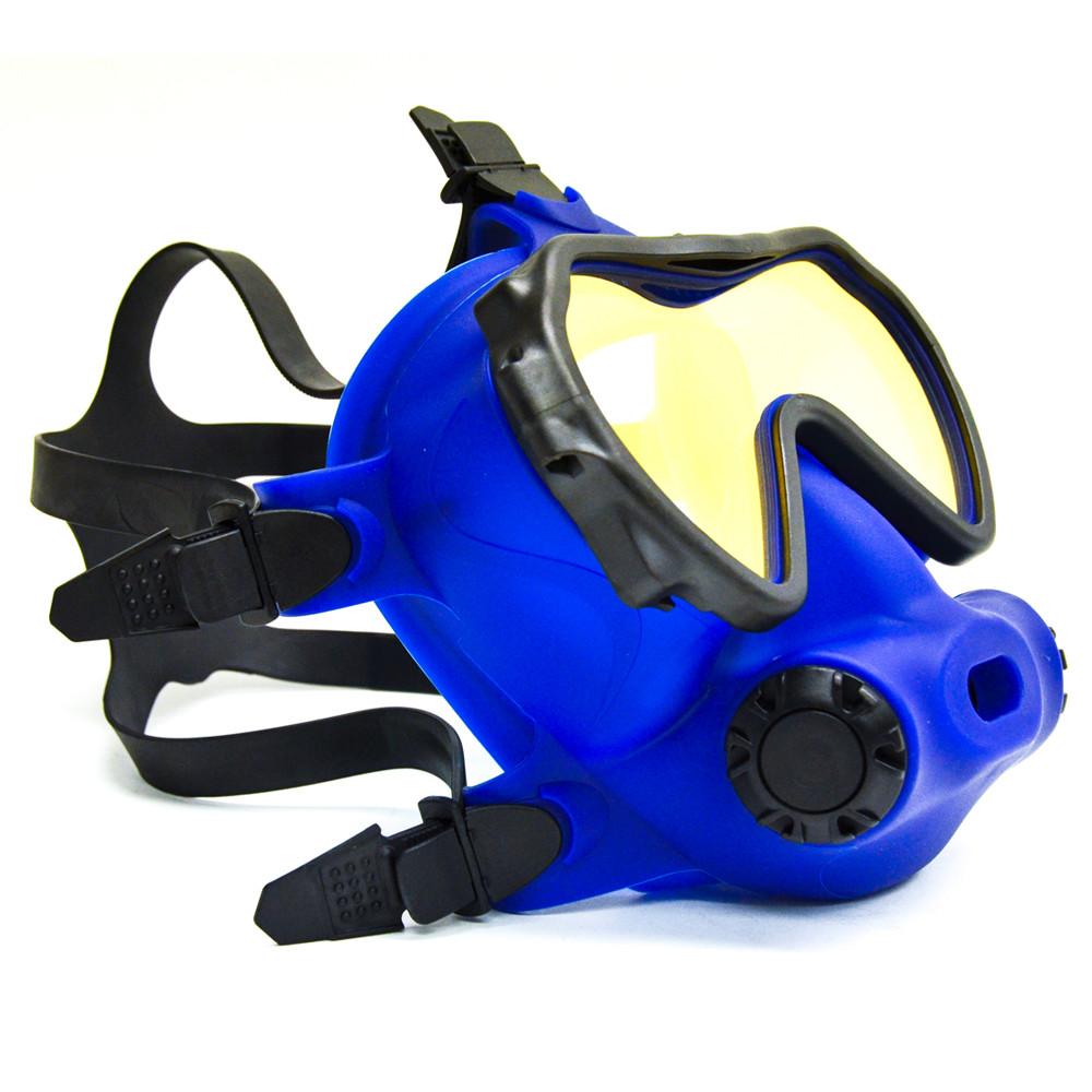 OTS blue skirted, coated lens Spectrum FFM - left side view
