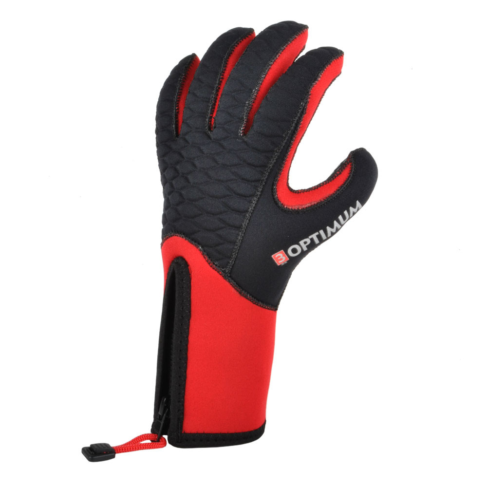 The red version of the 3mm Optimum glove
