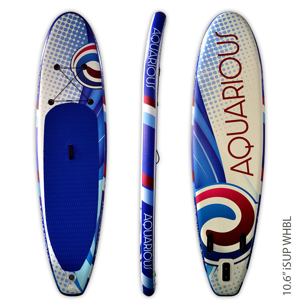 Aquarious iSUP board - White & Blue Swirl