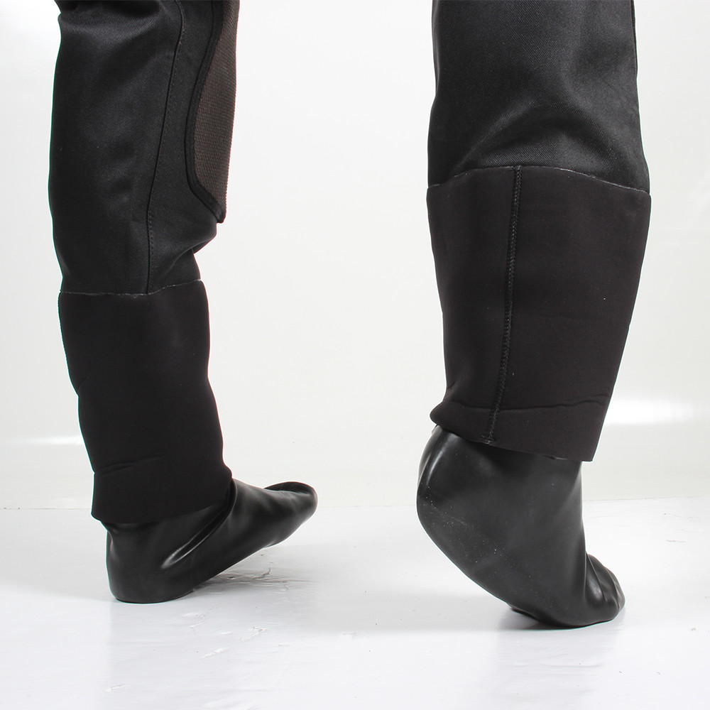 Tri-Laminate Diving Drysuit - Latex Socks with neoprene gaitor