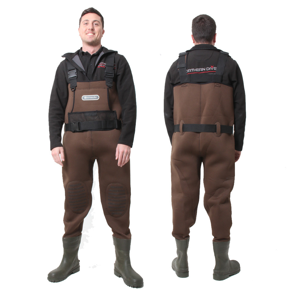 Men's Brown Outbound Waders - front & back view