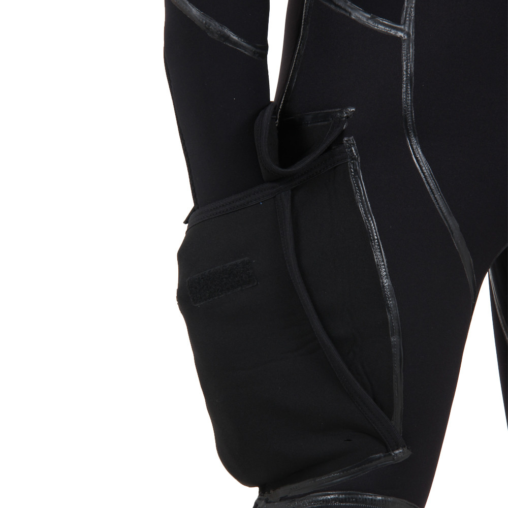 Semi-Tech 3-piece Wetsuit System - Long John only including side bellows pocket, close up of pocket,