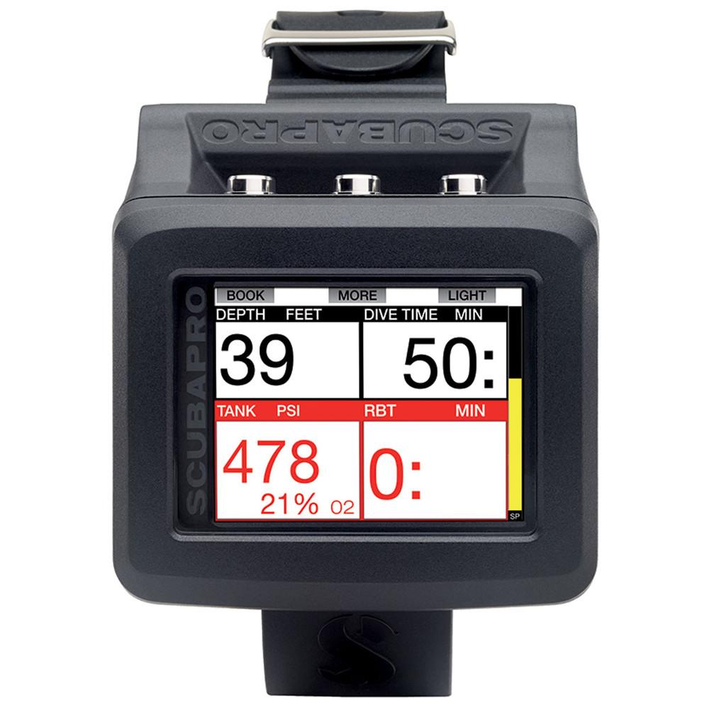 SCUBAPRO G2 Wrist Dive Computer - Stats screen, depth, dive time, air & decompression stop timer on