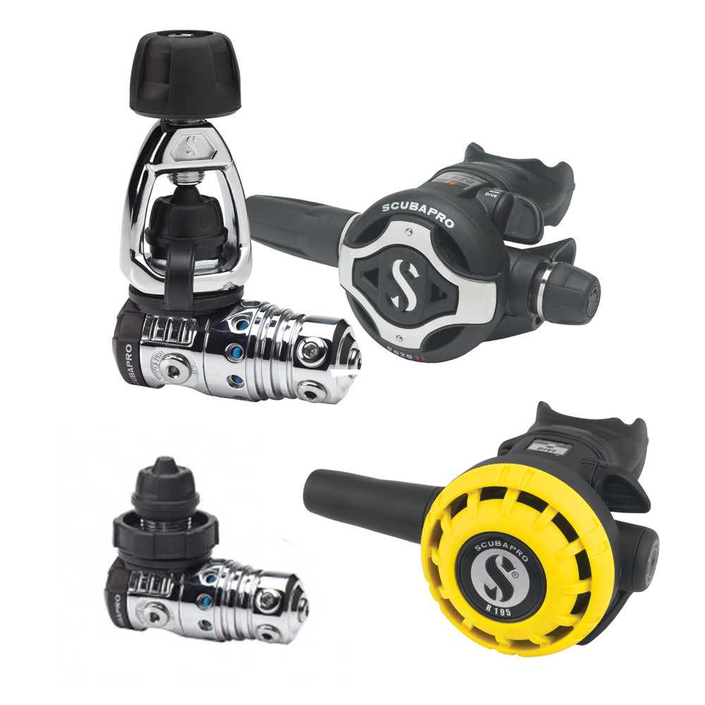 SCUBAPRO MK25 EVO / S620 Ti / R195 Octopus Set (Din or Aclamp) - full set